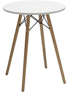 Esstisch Tisch Aus Holz Esszimmertisch Rund TYP 9 220 WEISS Bistrotisch  Küchentisch Design