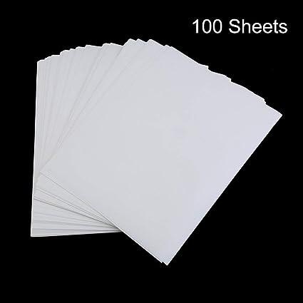 100 PCS Carta per stampa a sublimazione A4 per t-shirt in cotone poliestere Ferro su carta transfer Accessori per il trasferimento di stampa a caldo