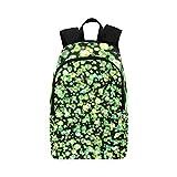 AIKENING Bokeh Green Lights Casual Daypack Travel Bag College School Backpack Mens Women