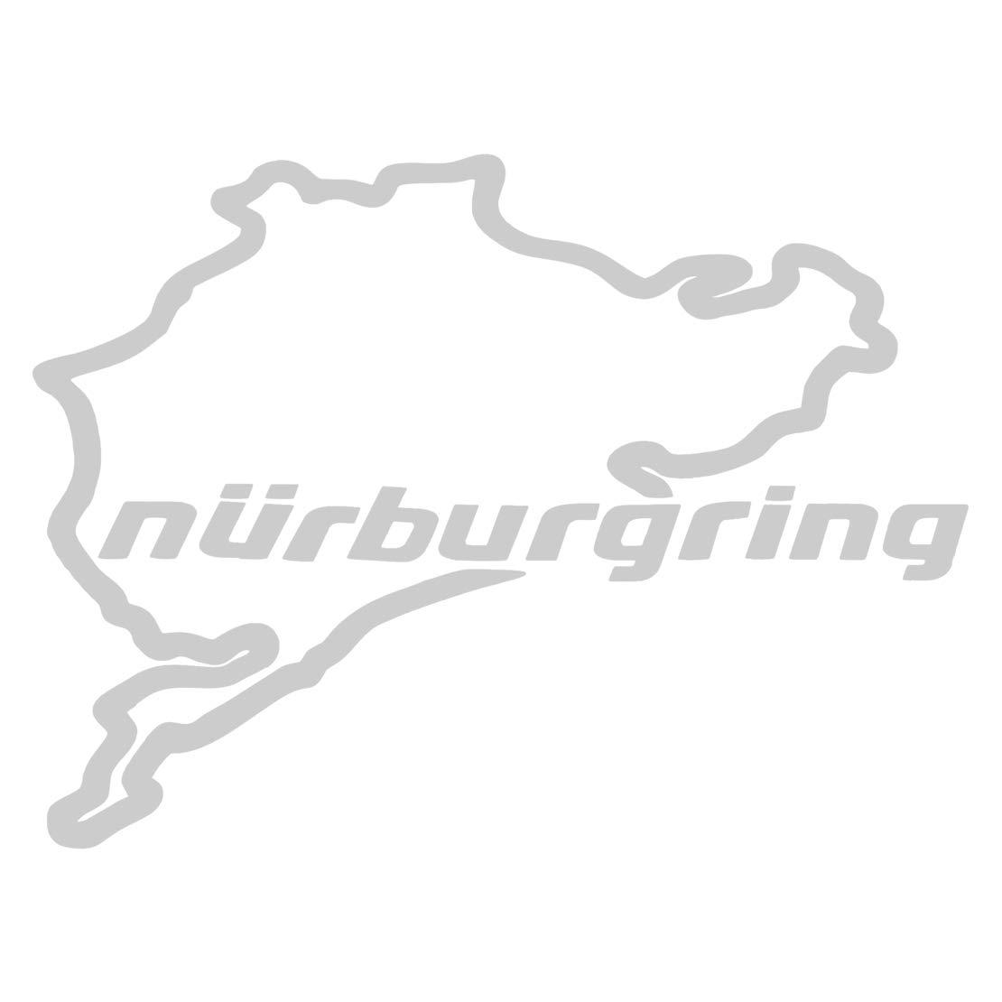 CITALL Vinyl Racing N/ürburgring Autoaufkleber Aufkleber Aufkleber Umriss f/ür Fensterwand Laptop