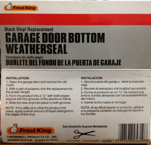 Frost King Rv18 Vinyl 2 Car Garage Door Bottom Weather
