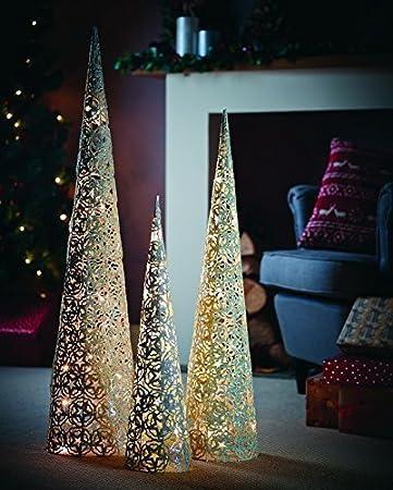 Grobe beleuchtete weihnachtsdeko
