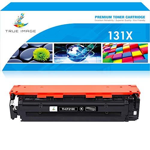 True Image Compatible Toner Cartridge Replacement for HP 131A 131X CF210A CF210X Laserjet Pro 200 Color M251nw MFP M276nw M251n M251 M276n M276 Canon MF8280Cw (Black, 1-Pack) (Printer Hp Laser Jet Pro 200 M276)