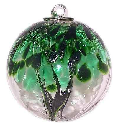 Witch Ball Spirit Tree - handblown glass ornament - great xmas gift or birthday gift