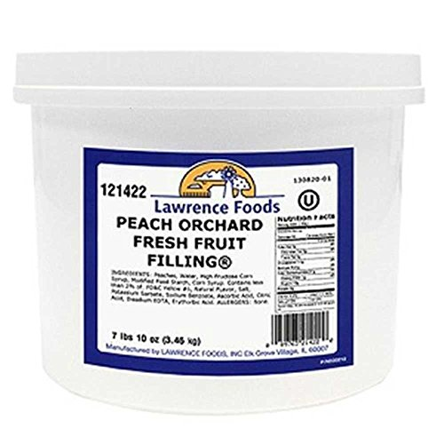 Whole Peach Fruit Filling, 0.75 each -- 4 per case by Lawrence Foods