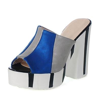 RAZAMAZA Damen ohne Verschluss Mule Sandalen