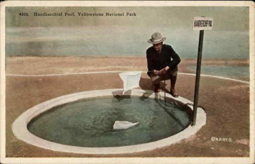 Handkerchief Pool, Yellowstone National Park Yellowstone National Park, Wyoming Original Vintage Postcard from CardCow Vintage Postcards