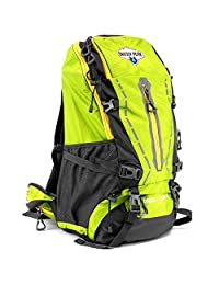 Grizzly Peak SOEQ-102 Internal Frame Hiking and Camping Day Backpack, Lime, 45 L