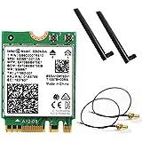 Intel (インテル) Wirelss-AC9260NGW 802.11ac (1,733Mbps) MU-MIMO & Bluetooth5 日本語取扱説明書つき (20cm, 5dBロッドアンテナ)