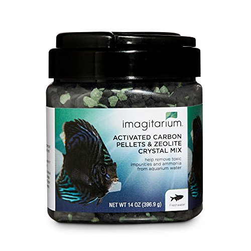 14 Oz Aquarium Filter - Imagitarium Activated Carbon Pellets & Zeolite Crystal Mix, 14 oz.