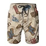 SNM HILL Mens Quick Dry Beach Shorts Knight Equipment Boots Floral Boardshorts Swim Surf Trunks X-Large