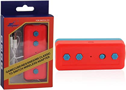 Adaptador 4 en 1 para Mando inalámbrico Nintendo Switch Wii/NES ...