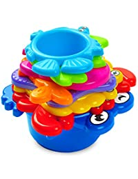 aGreatLife My First Stacking Cups: Best Educational Bath Toy for Kids - Fun and Brightly Colored Under the Sea Animals BOBEBE Online Baby Store From New York to Miami and Los Angeles