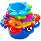 aGreatLife My First Stacking Cups: Best Educational Bath Toy for Babies and Toddlers - Fun and Brightly Colored Under the Sea Animals