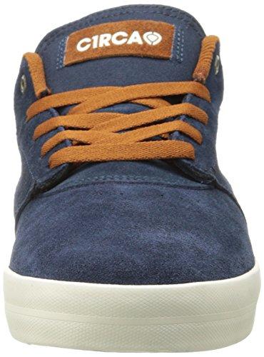 C1RCA BARON - zapatilla deportiva de cuero unisex azul - Blau (MOIN/ MOOD INDIGO)