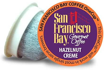 San Francisco Bay OneCup, Hazelnut Crème, 36 Count- Single Serve Coffee, Compatible with Keurig K-cup Brewers, Flavored