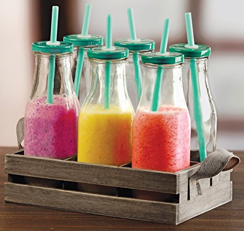 Milk Bottles With Lids And Straw Amazon Com