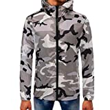 Corriee Men Hoodies Mens Autumn Camouflage Zipper Hooded Sweatshirt Casual Long Sleeve Fashion Pullover Tops Blouse
