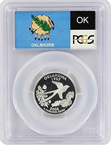 (2008 Oklahoma State S Silver Proof Quarter PR-69 PCGS)