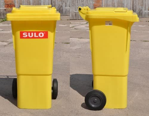 Cubo de basura 2 ruedas 22266 amarillo contenedor a basura SULO 60 L