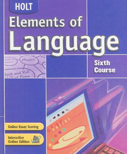 Elements of Language: Student Edition Grade 12 2004