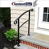 InstantRail 3-Step Adjustable Handrail (For Wood Steps)
