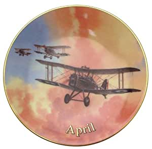 Davenport Wings of Fame April April Dawn Wilfred Hardy SE5A fighter aircraft 6 inch plate CP1733