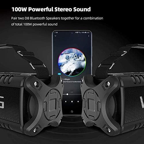 50W(70W Peak) Wireless Bluetooth Speakers Built-in 8000mAh Battery Power Bank, W-KING Outdoor Portable Waterproof TWS, DSP, NFC Speaker, Powerful Rich Bass Loud Stereo Sound 51FN JTLb5L