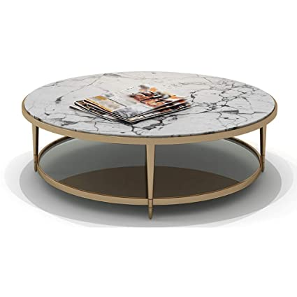 Miraculous Amazon Com Round Coffee Side Table With Metal Legs And Theyellowbook Wood Chair Design Ideas Theyellowbookinfo