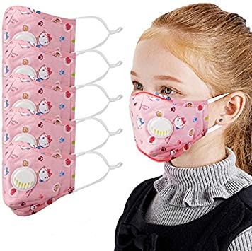 Weginte Kids Face Bandanas Cover with Goggle with Breathing Valve Children Breathable Mouth Covering Protective Outdoor