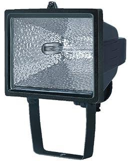 Electraline 63002 - Proyector halógeno con soporte de montaje para exterior (IP54, 400 W