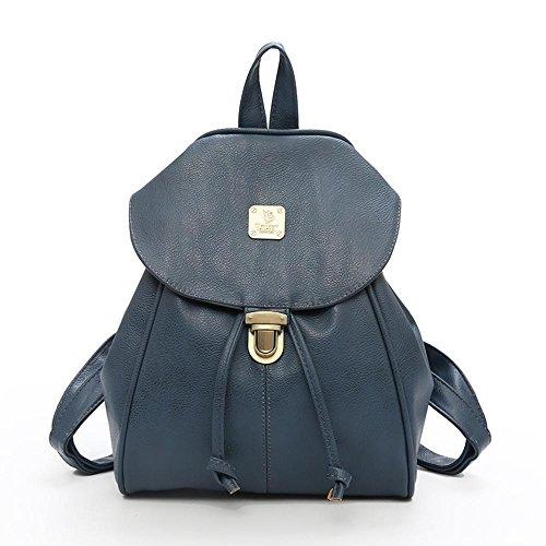 Aoligei Double Lady sac à bandoulière simili cuir sac à dos loisirs centaines mode rétro femmes sac C