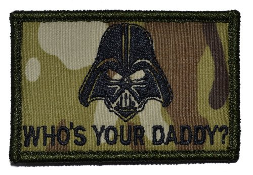 Darth Vader Who's Your Daddy? Star Wars 2x3 Military Patch /