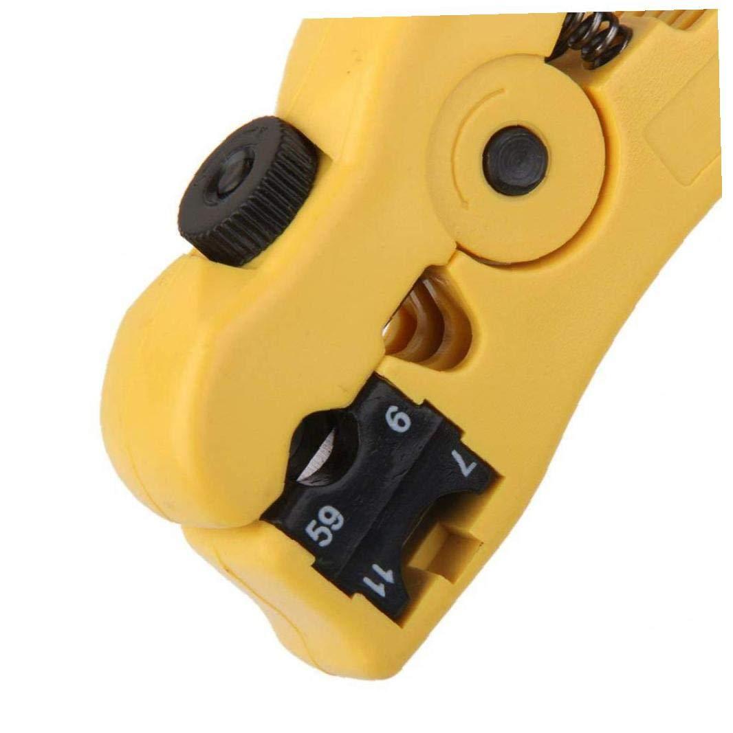 6//7//11 Funci/ón Reversible Cassette Cortador De Cable Coaxial De Jengibre Pelacables FEDSJUIHYG Herramienta Coaxial Separador del Cable Coaxial para Rg59