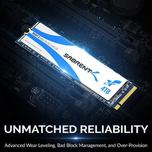 Sabrent Rocket Q 4TB NVMe PCIe M.2 2280 Internal SSD High Performance Solid State Drive R/W 3200/3000MB/s (SB-RKTQ-4TB)
