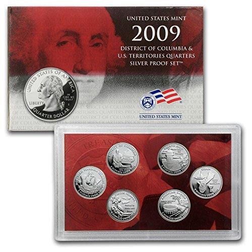 2009 S D.C. and U.S. Territories Quarters Silver Proof Set Brilliant Uncirculated