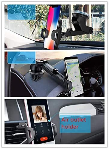 Universal Car Mount Holder Easy One Touch 4 Dashboard /& Windshield Phone Stand for Upgrade 270/°+360/°Rotation Silicone Pads Protect Compatible with iPhone X 8 7 6s Plus 5s 5c Galaxy S9 S8