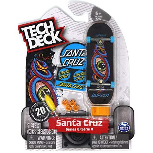 Tech Deck Santa Cruz Skateboards Rare Series 8 Josh Borden Hypnotize Snake Eye Fingerboard