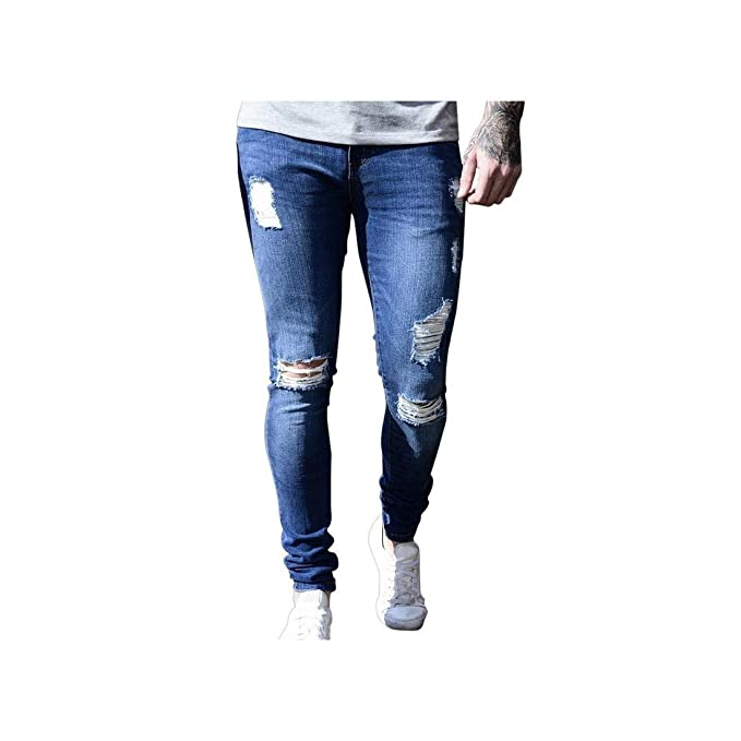 An Ping Mens Brand Skinny Casual Trousers Denim Jeans Homme ...