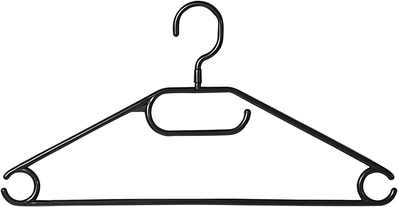 Kesper 16810 Plastic Clothes Hangers Pack of 10 Width 40 cm Black