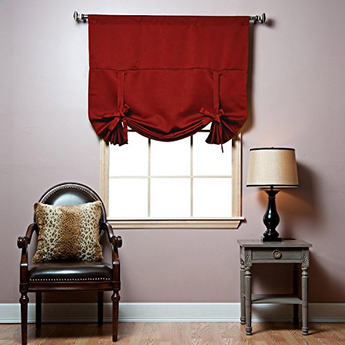 Red Curtains amazon red curtains : Red Tie Up Curtain: Amazon.com