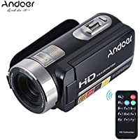 Andoer HDV-302S Full HD 1080p 30fps Camcorder 20MP Resolution 3 Inch LCD Screen 16X Digital Zoom HDMI out Anti-shake Digital Video DV Camera Camcorder