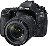 Kyпить Canon EOS 80D Digital SLR Kit with EF-S 18-135mm f/3.5-5.6 Image Stabilization USM Lens (Black) на Amazon.com