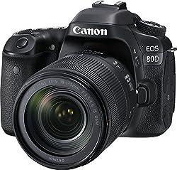 Canon Eos 80d Digital Slr Kit With Ef-s 18-135mm F3.5-5.6 Image Stabilization Usm Lens (Black)