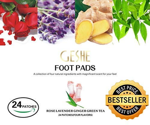 Patch Body Aroma ((Best Value 24 PCS) 2018 Upgraded Premium 2 in 1 Foot Care Pads, Rapid Pain Relief Patch,%100 Organic Body Cleansing Foot Patch -%100 Natural and Aromatherapy Metatarsal Pads to Improve Sleep)