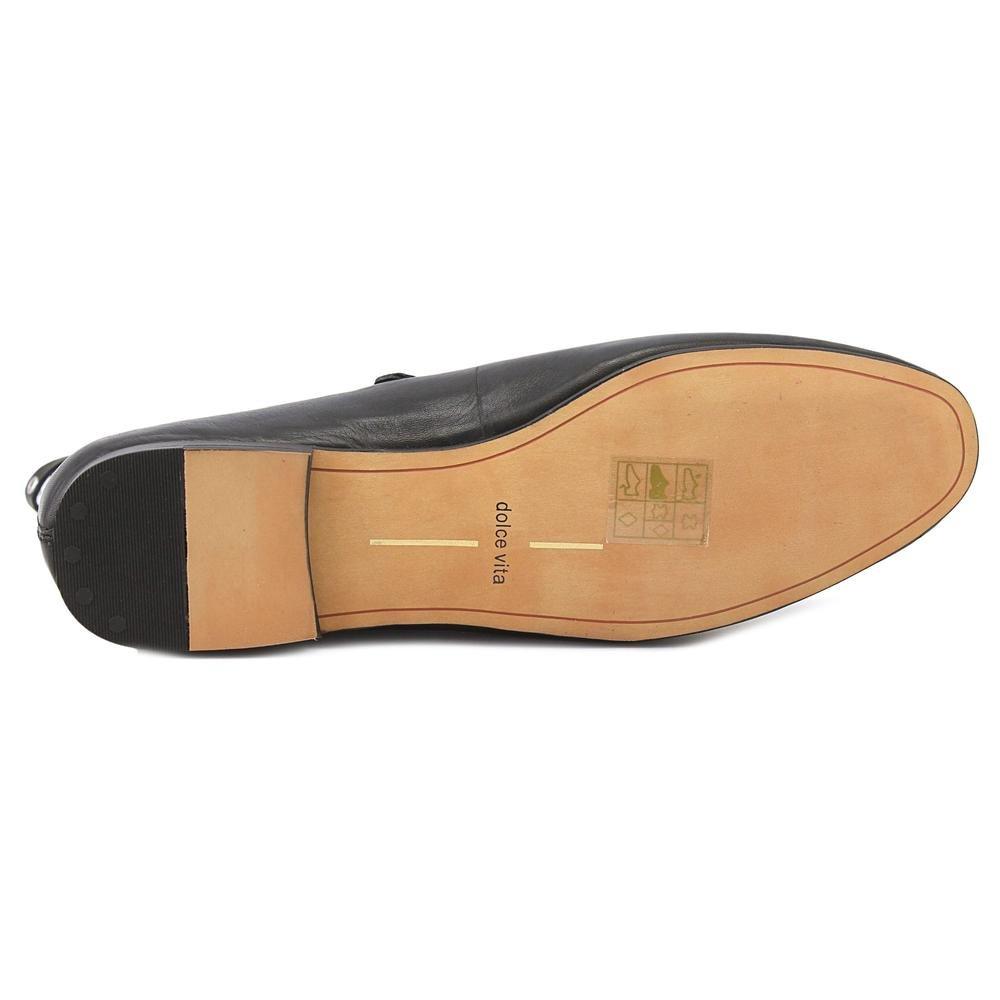 Dolce Vita Womens Patina Studded Chain Trim Ballet Flats B01N7P0N8O 8.5 B(M) US|Black Leather