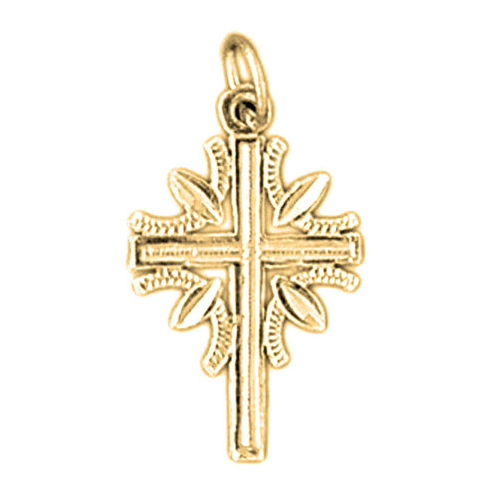 25 mm Jewels Obsession 14K White Gold Latin Cross Pendant