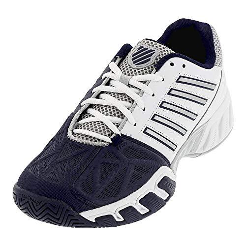 Game 3 Tennis Shoe - K-Swiss Men`s Bigshot Light 3 Tennis Shoes White and Navy (10)