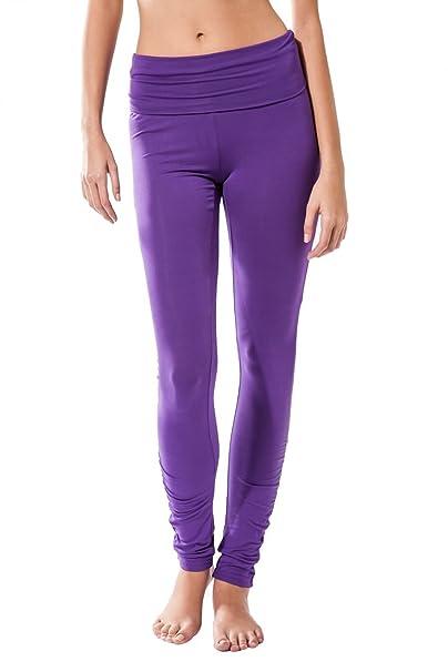 Sternitz Pantalon Fitness para Mujer, Dhana, Ideal para Hacer Pilates, Yoga y Cualquier Deporte, Tela de bambú, ecológica y Suave. Pantalón Largo ...