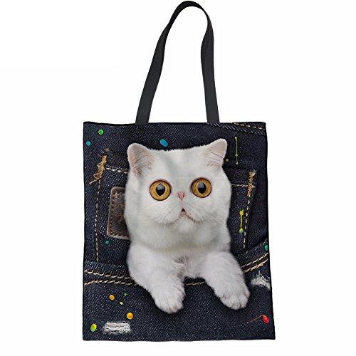 Advocator Mädchen Reisen Tragetaschen für Schule stilvolle Print College Student Handtasche wiederverwendbare Shopper Tasche für Frauen Color-1 nzvWz6tZq